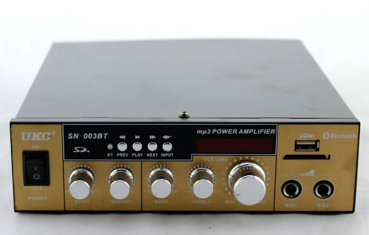 Усилитель звука Ukc SN 003 BT с радио и Bluetooth