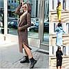 Р 42-52 Теплу сукню з вушками на флісі Батал 22581-1