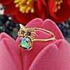 Кольцо Xuping с кристаллами Swarovski 83223 размер 19 ширина 13 мм вес 2.9 г цвет хамелеон позолота 18К, фото 2