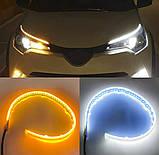 LED ДХО с повторителем поворотов 45 см! Дневные ходовые огни (ДХО) + поворотник NTS011-WY, фото 2