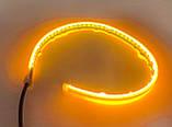 LED ДХО с повторителем поворотов 45 см! Дневные ходовые огни (ДХО) + поворотник NTS011-WY, фото 4