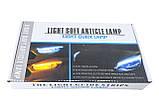 LED ДХО с повторителем поворотов 45 см! Дневные ходовые огни (ДХО) + поворотник NTS011-WY, фото 7