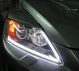 LED ДХО с повторителем поворотов 45 см! Дневные ходовые огни (ДХО) + поворотник NTS011-WY, фото 10