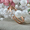 Кольцо Xuping 15127 размер 20 ширина 4 мм вес 2.0 г белые фианиты позолота РО, фото 3