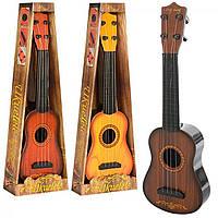 Гітара зі струнами 40см,4 струни,в кор-ці 45х16х5см,3 види №0381-1-2-3(48)