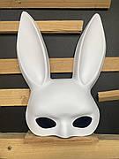 Милые уши зайца, Маска кролика PlayBoy, белая матовая 38см!