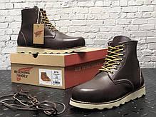 Мужские зимние ботинки Red Wing. Натуральная кожа. Натур.мех. Темно-Коричневый, фото 3
