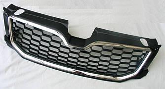 Решетка радиатора Skoda Octavia A7 тюнинг RS (хром рамка)