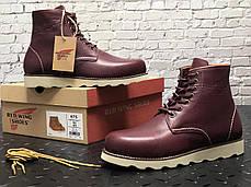 Мужские зимние ботинки Red Wing. Натуральная кожа. Натур.мех. Красный, фото 3