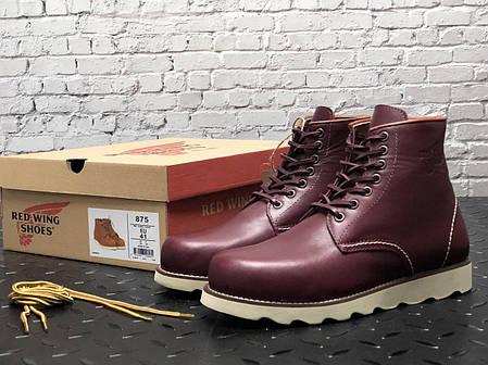Мужские зимние ботинки Red Wing. Натуральная кожа. Натур.мех. Красный, фото 2