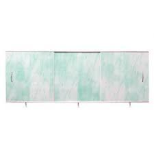 Раздвижная панель для ванной 1,7х0.5 Санта зеленая мрамор