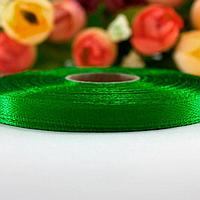Атласная лента 6 мм (23 м.) зеленая