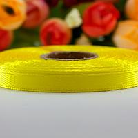 Атласная лента 6 мм (23 м.) желтая