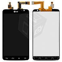Дисплейный модуль (дисплей + сенсор) для LG Optimus G Pro Lite Dual D686, черный, оригинал