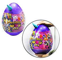 Іграшка Яйце ВАУ - скринька сюрприз велике для дівчинки Єдиноріг, набір для творчості, ігор і розвитку