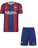 Футбольная форма Барселона (fc Barcelona) 2020-2021 домашняя детская, фото 1