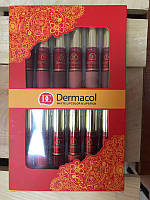 Набор Dermacol DC матовые помады + блеск для губ матовый 12+12 Новинка!