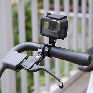 Алюминиевое крепление для ГоуПро на руль велосипеда Clamp Mount для GoPro SJcam Xiaomi yi