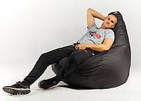 Кресло мешок пуфик груша черное XХL 150х100 см