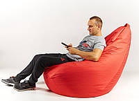 Кресло мешок груша пуфик XХL 150х100 см Красный