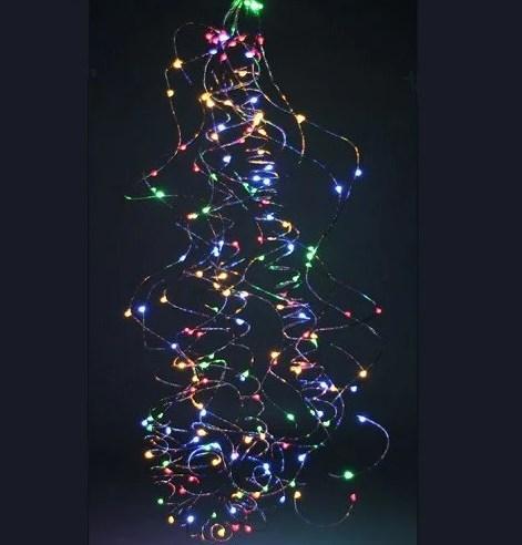 """Гірлянда """"Кінський хвіст"""" пучок 300 LED: 12 ниток по 2,3 метра, 25 діодів/ нитка, колір Multicolor 8 режимів"""