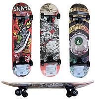 Скейт деревянный большой PU колеса