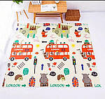 Детский игровой коврик складной развивающий двухсторонний для игр ПВХ Котики 1,5 х 2,0 м