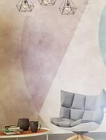 Фотошпалери безшовні флізелінові екологічно чисті Olympia абстракція геометрія сірі рожеві