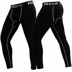 Штаны компрессионные мужские черные RDX LYCRA BLACK 2XL