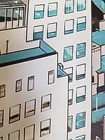 Фотошпалери безшовні флізелінові екологічно чисті New York міста мегаполісів Нью Йорк чорний білий блакитний