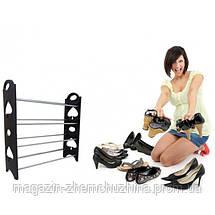Органайзер для обуви Stackable Shoe Rack 4 полки!Хит цена, фото 2