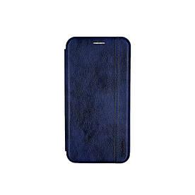 Чехол книжка для Samsung Galaxy M31 M315 боковой из натуральной кожи, Gelius, Синий