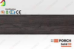 Террасная доска Porch Solid 3D Dark Coffee 2200x140x18, композитная дерево-полимерная доска, для террасы