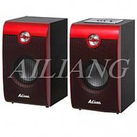 Стационарная акустическая система Ailiang Q1(USB FM02) 2.0 код Q1