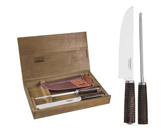 Набір для гриля, ніж для м'яса і точило TRAMONTINA Barbecue POLYWOOD, 2 предмета. (29899/562)