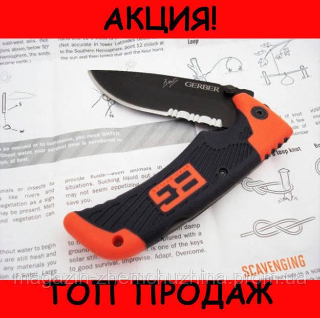 Туристический складной нож Gerber Bear Grylls Folding Sheath Knife с чехлом !Хит цена