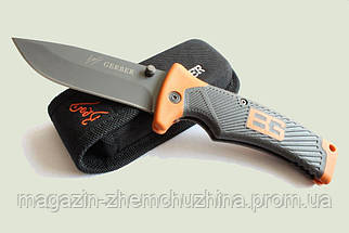 Туристический складной нож Gerber Bear Grylls Folding Sheath Knife с чехлом !Хит цена, фото 2