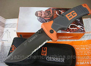 Туристический складной нож Gerber Bear Grylls Folding Sheath Knife с чехлом !Хит цена, фото 3
