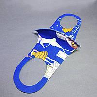 Детская маска питта  многоразовая защитная  (3-7 лет) синяя