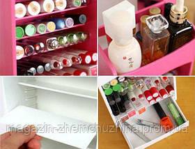 Органайзер для Хранения Косметики Cosmake Lipstick & Nail Polish Organizer!Хит цена, фото 3