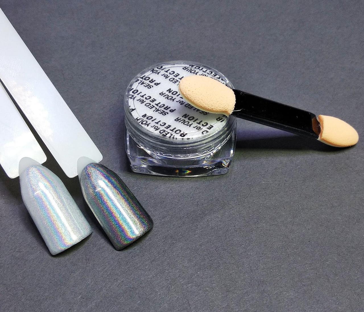 Пігмент лазерний для нігтів срібло