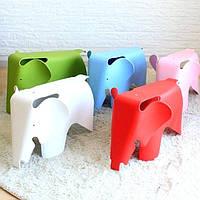Розовый слон, стул пластиковый детский Слон, табурет пластиковый KIDS SLON