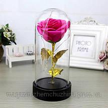 Роза в колбе с LED маленькая Красная и Розовая!Хит цена, фото 3