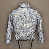 ОПТОМ Куртка женская светоотражающая из рефлективной ткани с голографическим принтом, фото 8