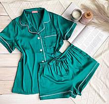 Женский шелковый пижамный костюм