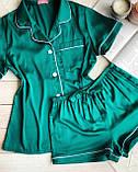Женский шелковый пижамный костюм, фото 7