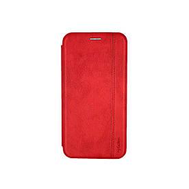 Чехол книжка для Samsung Galaxy M31 M315 боковой из натуральной кожи, Gelius, Красный