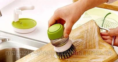 Щетка для мытья с диспенсером Soap Brush!Хит цена, фото 2