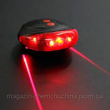 Фонарик велосипедный BL 118 Bike Light+Laser!Хит цена, фото 2