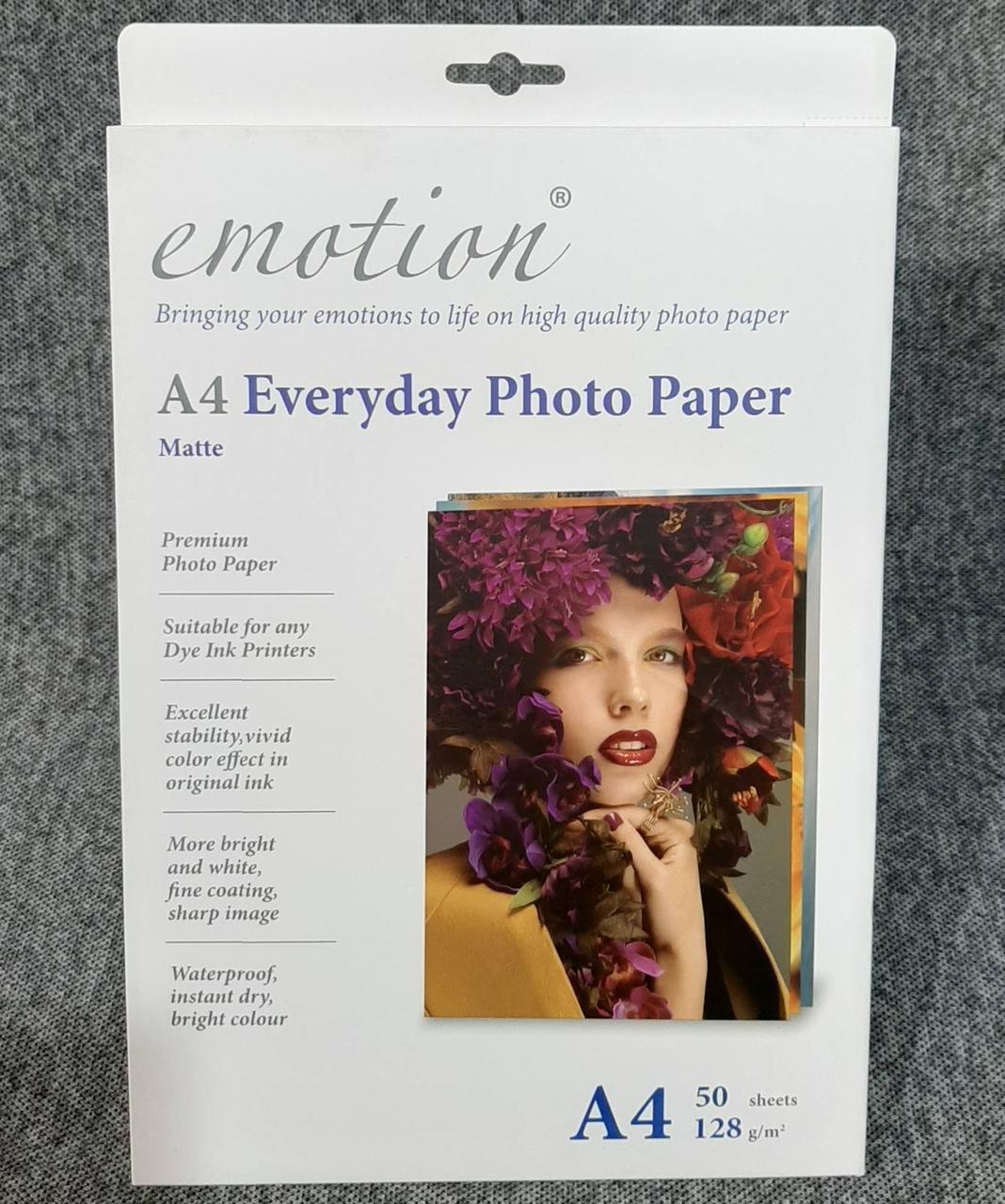 Фотобумага Emotion A4 128g